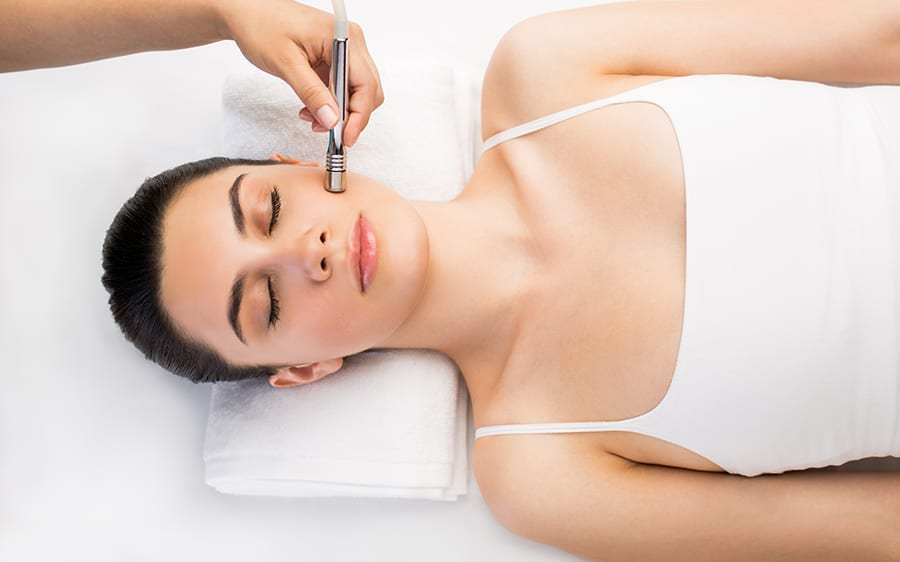 Diamond Microdermabrasion for gentle exfoliation