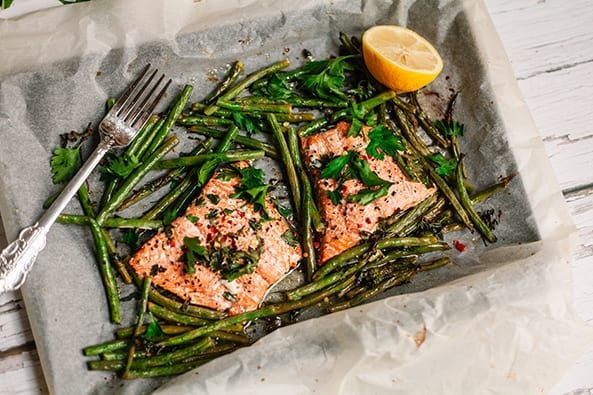 Baked Salmon Green Beans recipe