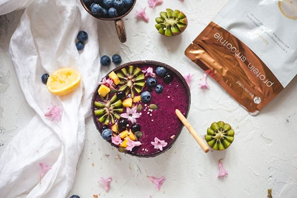 Blueberry-Protein-Smoothie