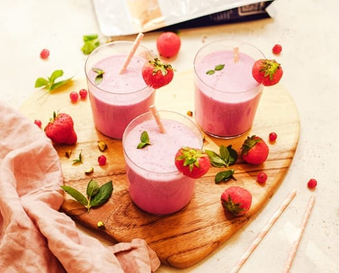 Collagen-strawberry-vanilla-shake