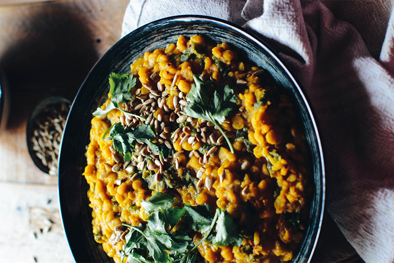 Nourishing Channa Dal With Kale recipe