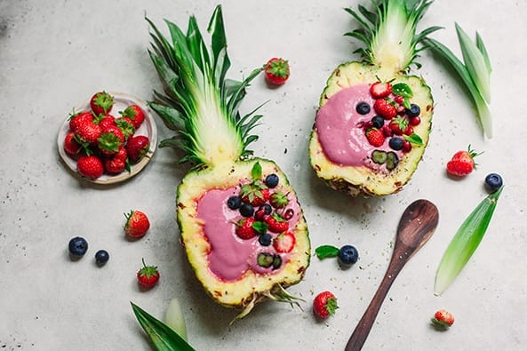 Pineapple Boat Strawberry Beetroot Protein Smoothies recipe