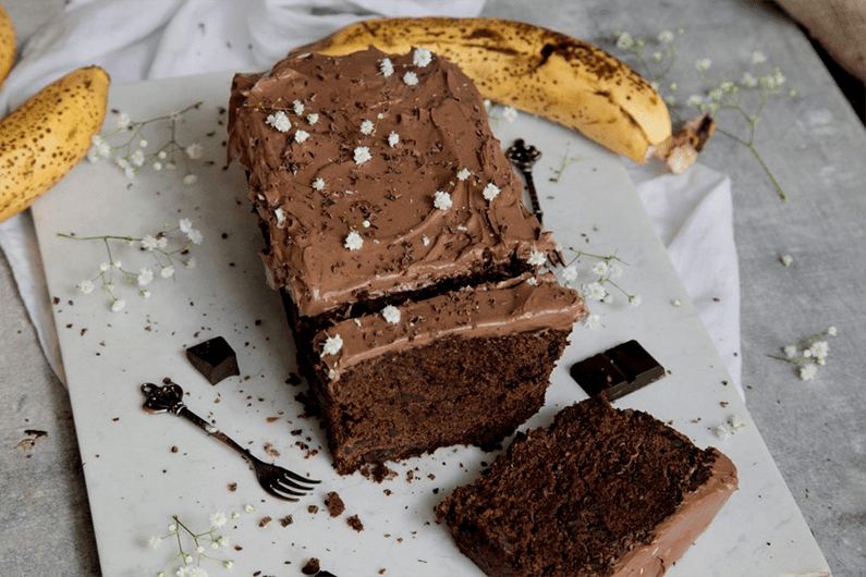 Protein-chocolate-banana-bread