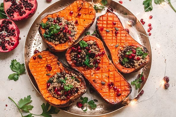 Roast-butternut-squash-with-pecans-and-cranberries