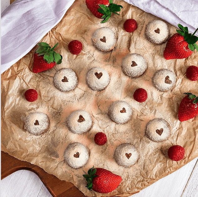 Strawberry-and-cream-protein-balls