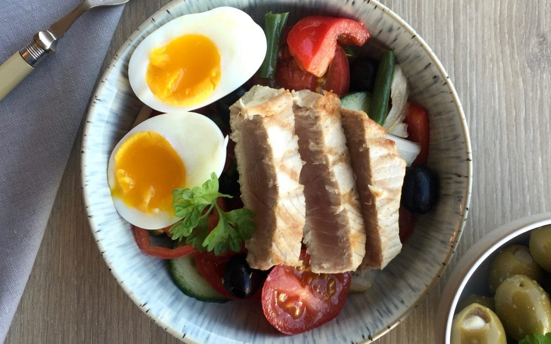 Tuna Steak Salad recipe