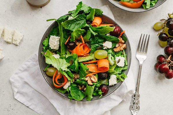 This grape and feta cheese salad is such a beautiful combination of flavours, it's so tasty and moreish. We asked the lovely Samantha Hadadi to come up with a spring salad and this is sheer perfection. Perfect for a light summer lunch or a starter or main for supper. We'd love to hear your favourite flavour combinations too.
