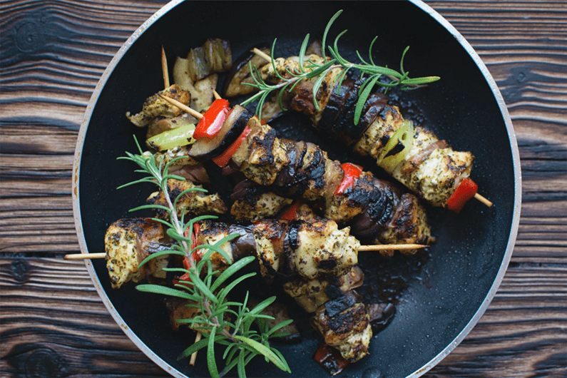 Herby Chicken Skewers recipe