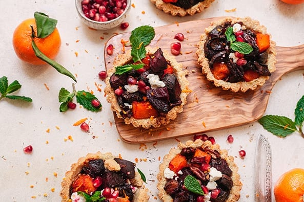 Roast Beetroot Tarts recipe