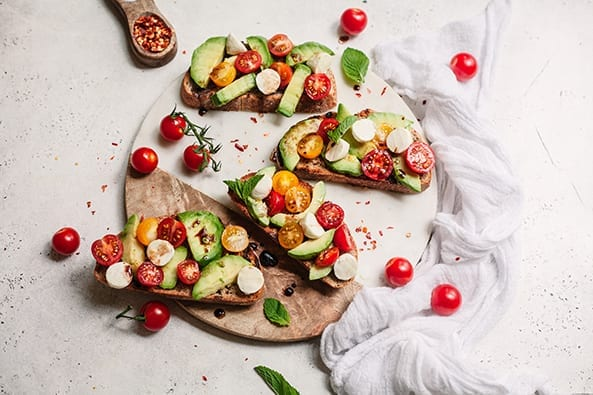 Avocado Mozzarella Crostini recipe