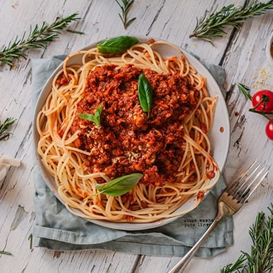 Lentil Walnut Bolognese recipe