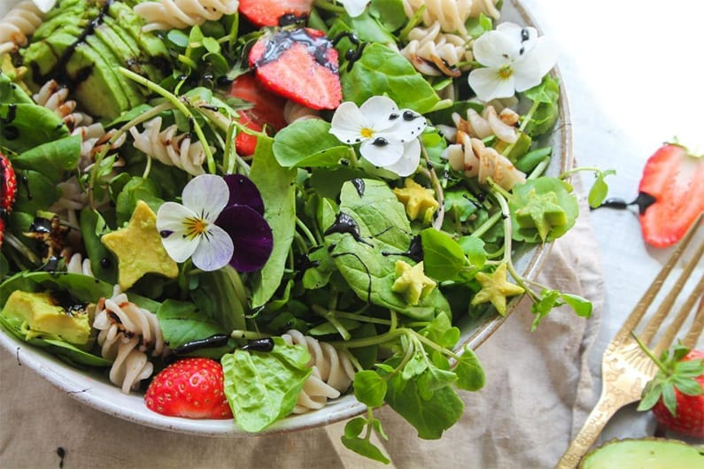 Strawberry Avocado Summer Pasta Salad recipe