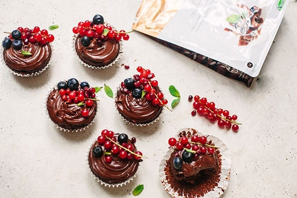 Triple Chocolate Cupcakes recipe
