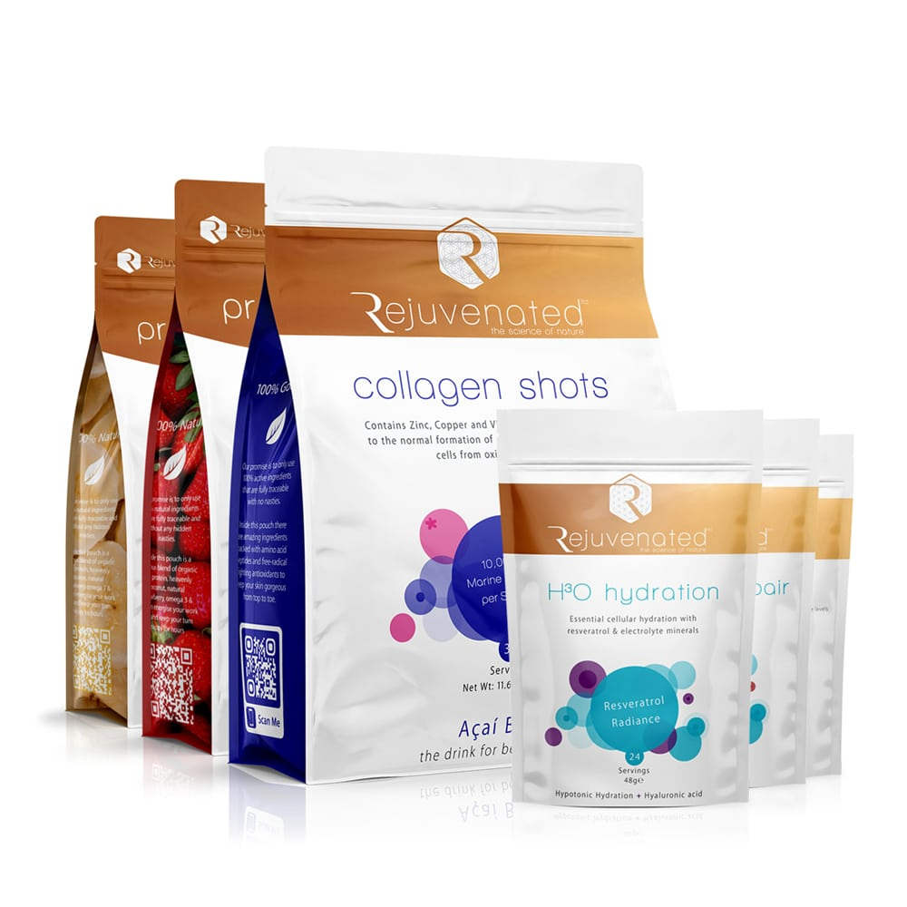 Rejuvenated skin and lifestyle pack