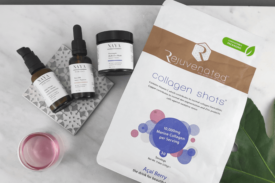 Naya Glow skincare products work with Rejuvenated products to transform your skin in spring