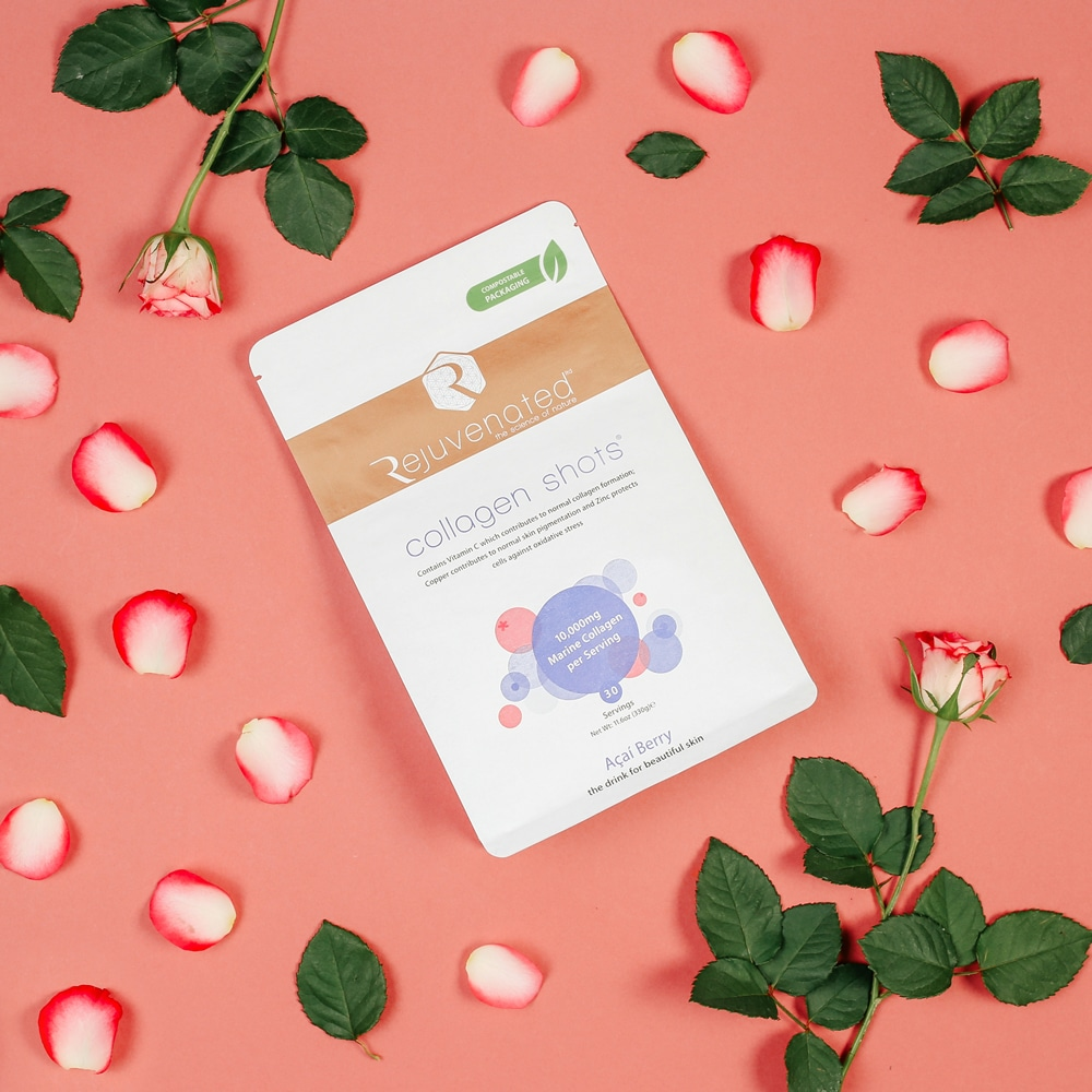 collagen shots in compostable pouch