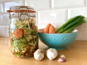 Easy kimchi recipe is a fermented food that helps to promote healthy bacteria in the digestive system.