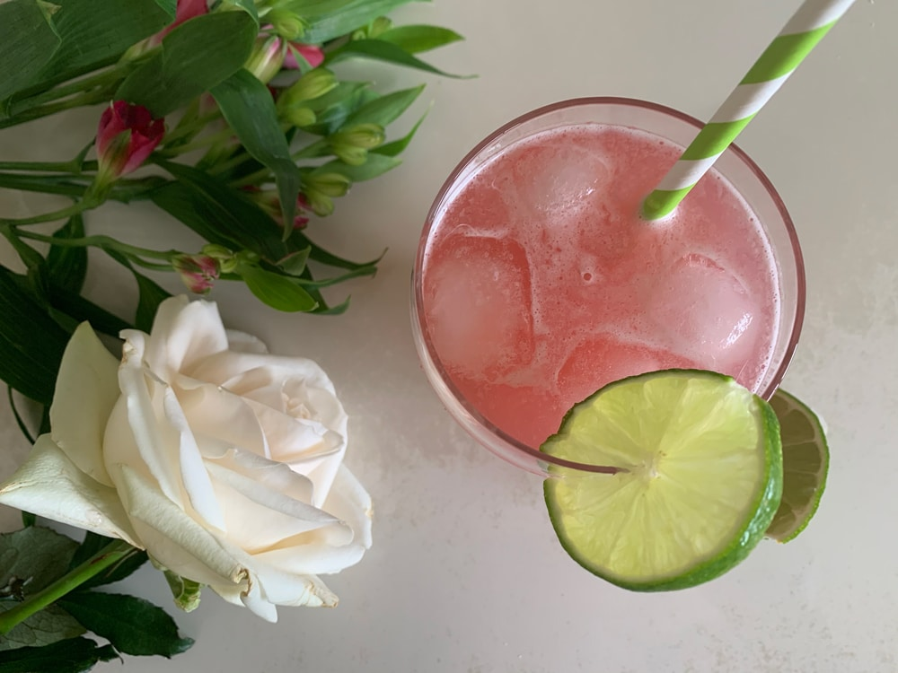 Pink Ribbon Ginger and lime fizz