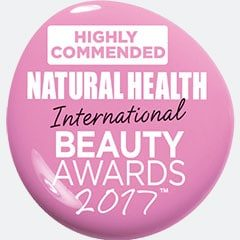 Highly Commended Award Natural Health International Awards 2017