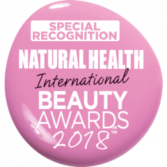 Special Recognition Award Natural Health International Awards 2018