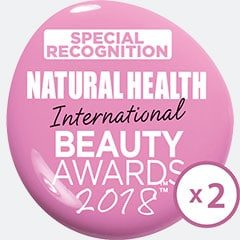 Natural Health Beauty Awards 2 times winner