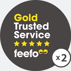 Feefo Gold service awards
